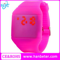 One-piece silicone rubber watch bands wrist with plactic case watches