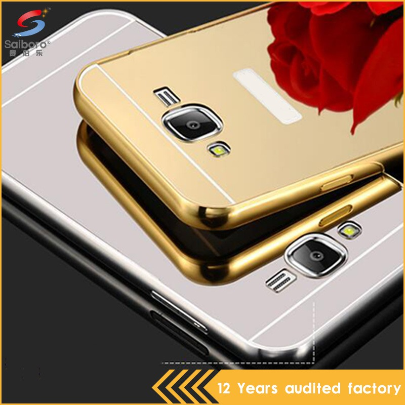 metal plastic mobile phone cases for Samsung J7 with stand function from china manufacturer