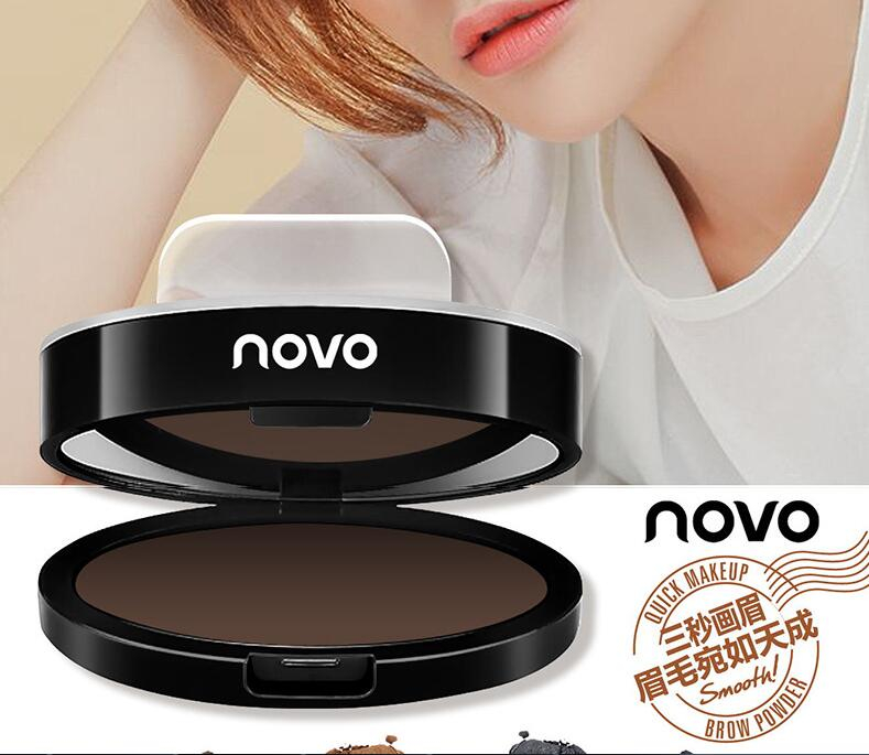 NOVO Quick Makeup Eyebrow Stamp Waterproof Eye Brow Powder Two Shape Korea Natural Brow Tools Beauty Cosmetic eyebrow tattoo