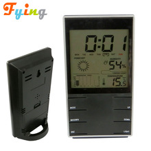 PROMOTION GIFTS cheap weather multifunction lcd clock, weather forecast wireless color weather station