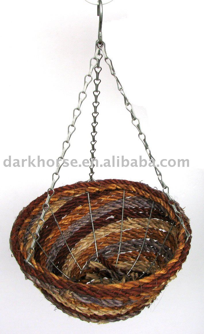 Round Wicker Hanging Basket