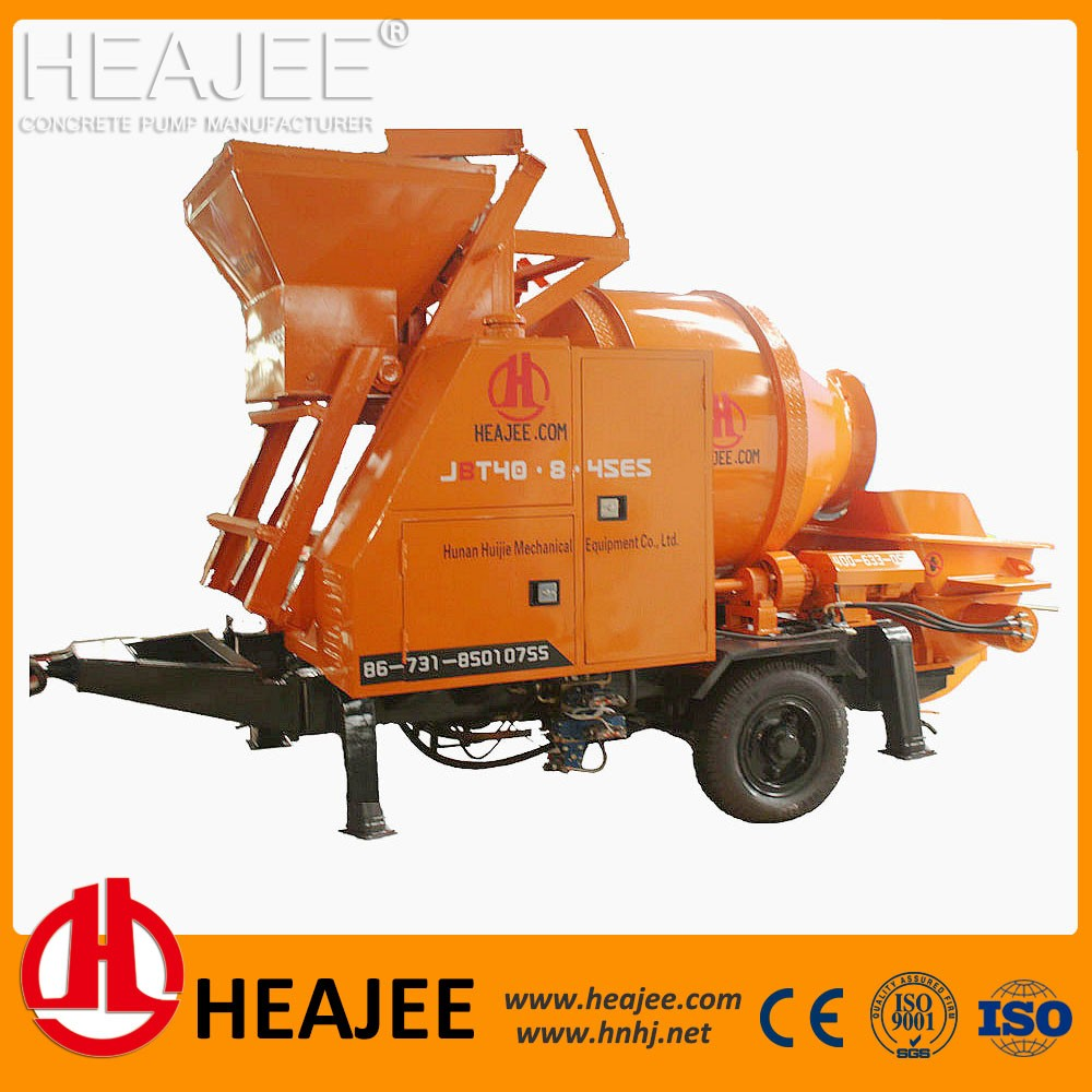 HEAJEE concrete mixer with pump for sale JBT40-8-45ES