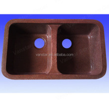 High Quality Brown Color Quartz Kitchen Sinks, Undermount Kitchen Quartz Sinks