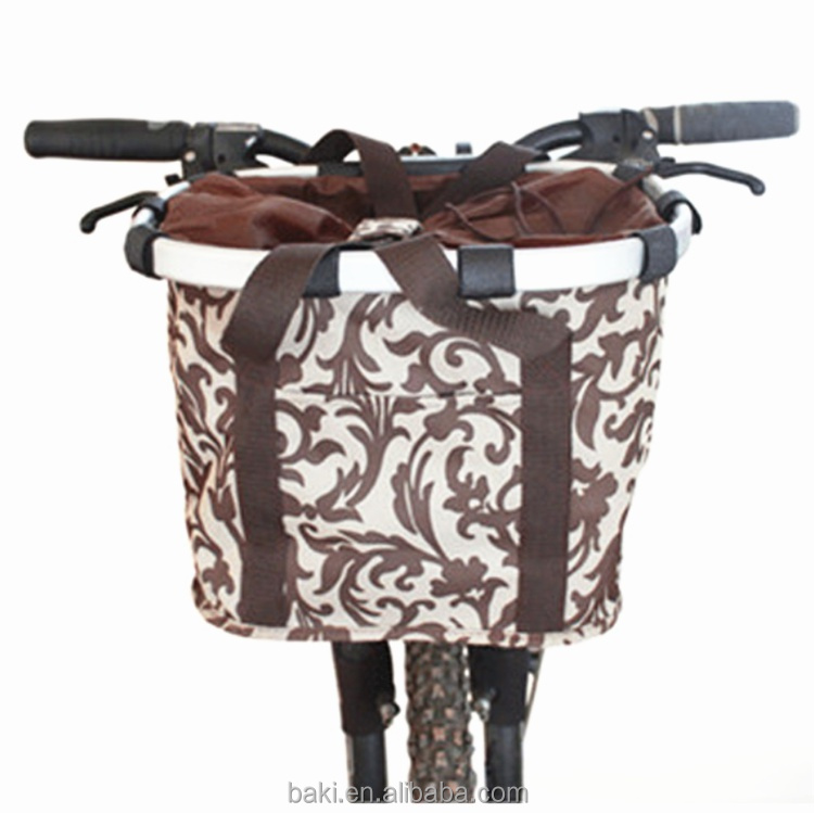 Portable Pet Bicycle Basket Dog Cat Carrier Travel Removable Foldable Pet Bags