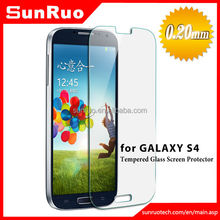 0.26mm 2.5D 9H Oleophobic Coating Mobile Phone LCD Premium tempered glass screen protector for Samsung Glaxy s4 i9500