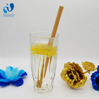 WanuoCraft Reusable Biodegradable Natural Bamboo Drinking Straws