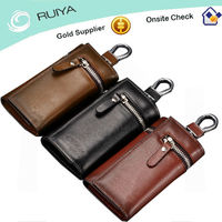 new style vintage casual genuine leather key bag