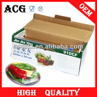 plastic food wrappers clear static pvc cling film