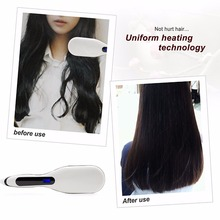 New Arrival Stylish Design Ceramic Iron Hair Straightener Brush For All Hairs