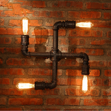 CE/UL loft design for dining hall vintage metal pipe wall lamp industrial design light