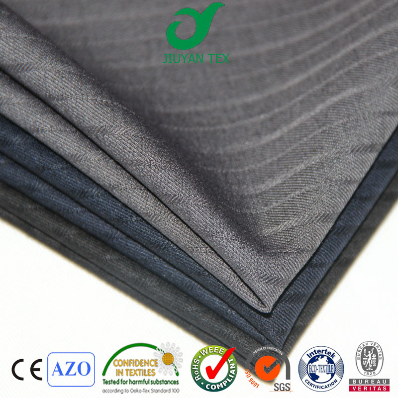 Beautiful wool blend trw stripe weave customized selevdge senior quality men dress uniform suiting textile fabric through SGS