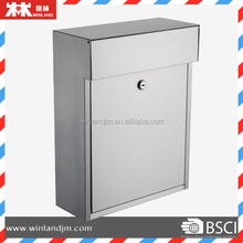 Stainless steel mailbox, wall mounted letter box