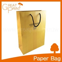Premium Bronze Stamping Cotton Handle Paper Shopping Bag