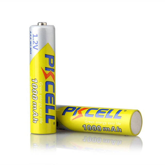 PKCELL 1.2 voltage nimh Consumer AAA Rechargeable Battery with 1000mah high capacity