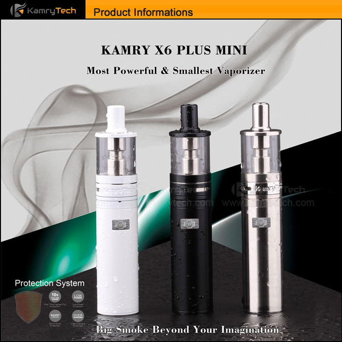High end electronic e cigarette vapor 1100mah Kamry Mini x6 plus e cig vaporizer mods