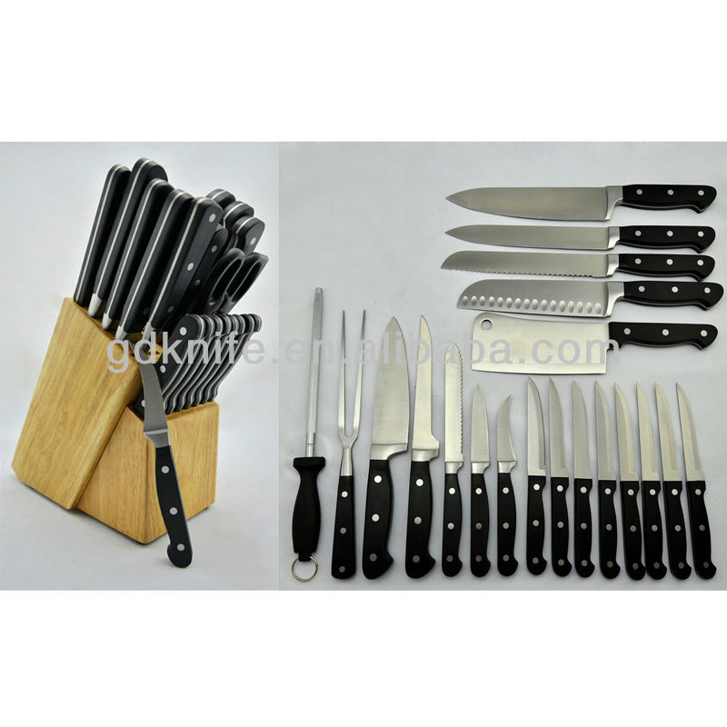 High quality 21pcs stainless steel knife,kitchen knife set