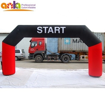 New design  inflatable start line arch with hanging banner for events