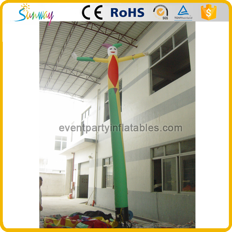 Colorful single leg inflatable clown air dancer with blower
