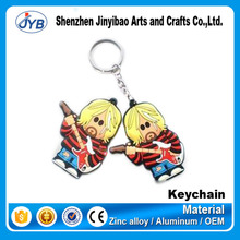 custom various anime keyring make cheap soft pvc 3D keychain