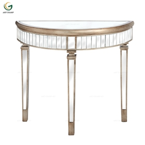 Half Moon Venetian Mirror Living Room Mirrored Console Table Furniture