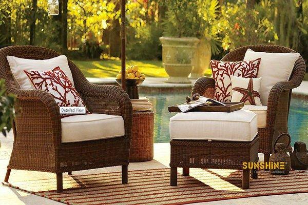 Giardino esterno mobili in rattan di vimini poltrona letto singola con ...