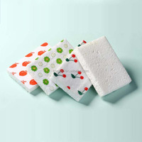 printed kitchen cleaning dish washing cellulose sponge