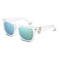 Alibaba SJ Latest Design SJMH002(3) Personalized Women Plastic Rectangle Frames Retro Sunglasses for Summer