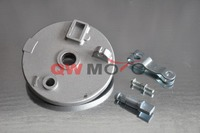 8 Inch wheels Front Left & Right Brake Shoe Hub with Drum Brake Assembly for ATV Quad Bike 150cc/ 200cc
