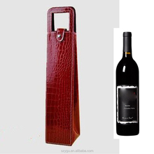 Customized Promotional 1 Bottles Wine Bag Gift Wine Packaging Gift Bag