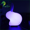 Cute Cartoon Colorful PVC Inflatable LED Lighting Rabbit For Festival Decoration