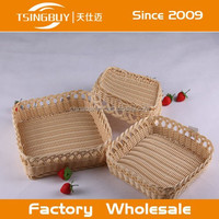 China factory direct wholesale Bread displaying customized size storage plastic basket 10 x 15 wholesale