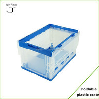 Flexible opening plastic folding container