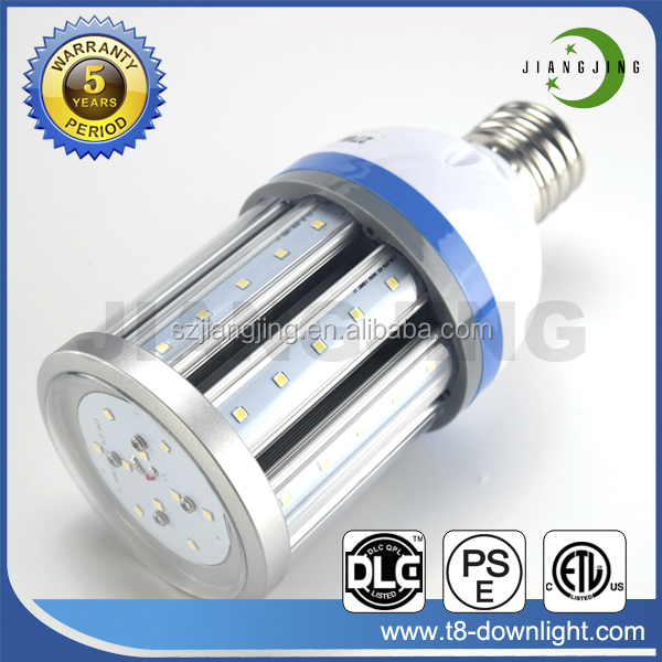 Clear Lens 360 Degree Super Isolated Driver IP64 Waterproof 27W ETL DLC LED Corn Lamp