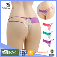 2015 Design Good Quality Young Girl Lace Flower Sexy Pants And G-String