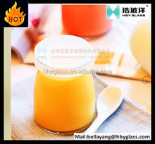 pudding Industrial Use and plastic cap / wooden cork Sealing Type small glass bottles