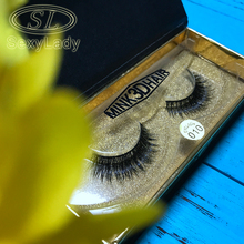 mink eyelashes 3D mink lashes Long Lasting false eyelashes Lashes Crisscross Natural Mink Eyelashes Round box Glitter Packaging