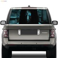 2017 hot products car decoration vinyl sticker rear window terrorist decals ghost stickers to discourage high beam