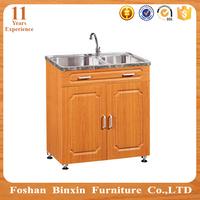 pvc surface wooden cupboard fiber kitchen cabinet
