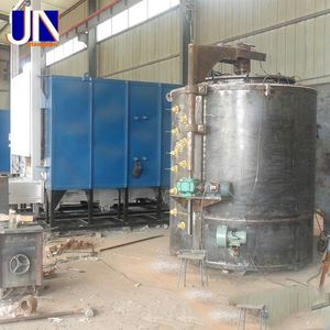 Steel parts pit type gas carburizing furnace