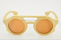 High quality leg slimming UV400 polarized unisex age bamboo wood eyeglasses made in china
