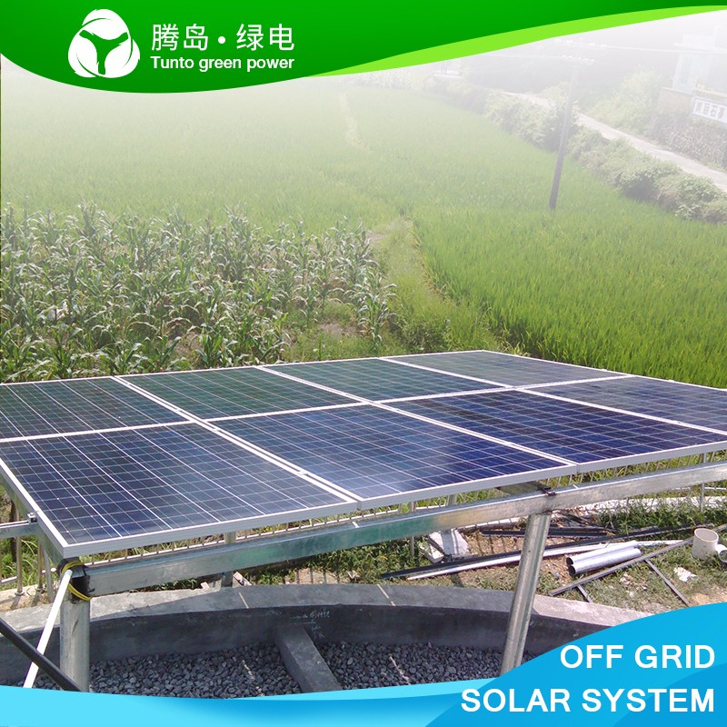 Solar PV Energy System for self energy house 2000W solar panel 3000W load