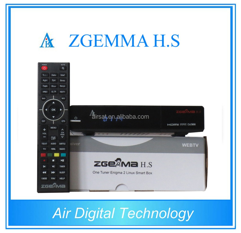 Dual core Zgemma H.S single DVB-S2 HBBTV satellite tv receiver 8GB TF card FREE