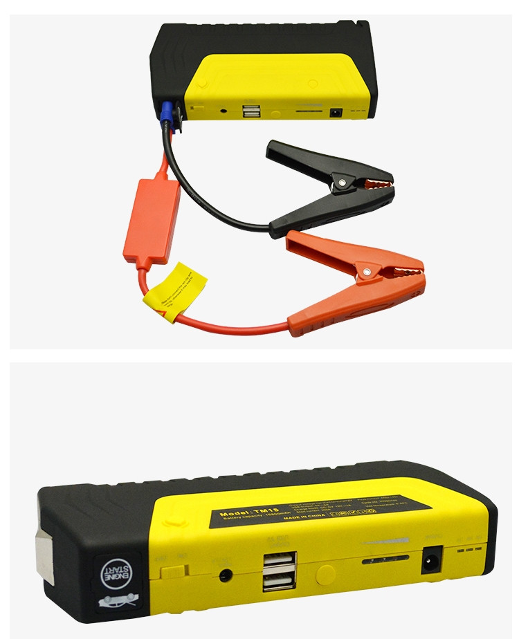Mini mutl-function jump starter emergency tool jump start type power bank with dual USB