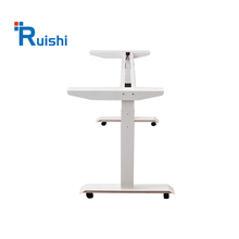 600-1250mm front office desk design sit stand height electric adjustable standing up desk