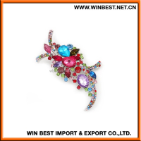 China new design popular rhinestone wedding brooch for dress, rhinestone brooch pin,hair brooches jewelry
