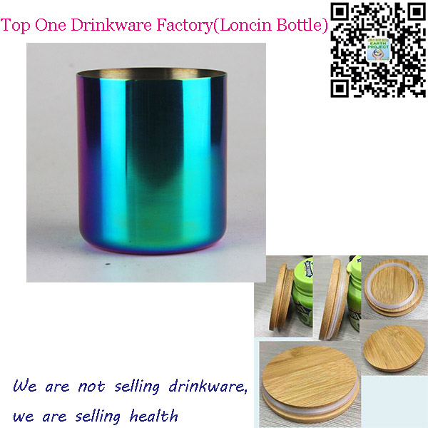 OEM Metal Candle Container,Scented Jar Candles with Bamboo Lids