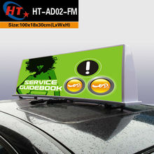 digital advertising in taxis cab dome led display top signal