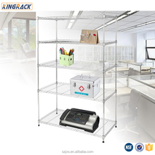 Chrome wire shelves for company office