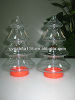 clear tree shaped plastic candy containers