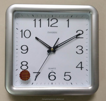 Elegant 12inches plastic square wall clock